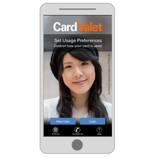 Card Valet Welcome Screen