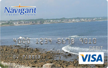 Debit card with beach picture